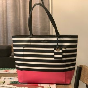 Authentic Kate Spade Stripped Shoulder Bag